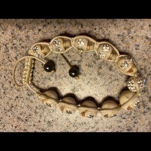 Skull crystal bracelet